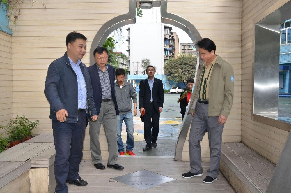 新疆自治区乌鲁木齐县教育同仁到我校参观交流