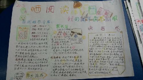 4.4班:晒阅读 ----我的新年读书画报图片